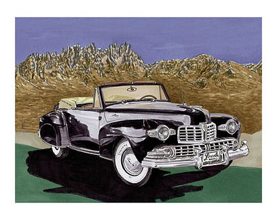 Painting - Lincoln Continental Mk I by Jack Pumphrey