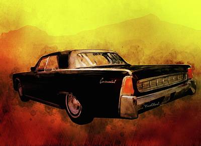Digital Art - Lincoln Continental Shrine To Understated Good Looks by Chas Sinklier