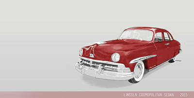 Mixed Media - Lincoln Cosmopolitan Sedan by TortureLord Art