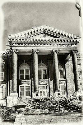 Photograph - Lincoln County Courthouse Sepia by Sharon Popek