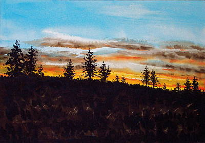 Lincoln County Sunset 1 Art Print
