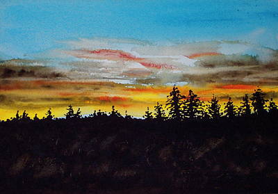 Lincoln County Sunset 2 Art Print
