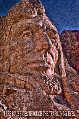 Mount Rushmore Mixed Media - Lincoln Crying by Kevin  Sherf