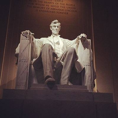Politicians Photograph - Abraham Lincoln Statue Dc by Lana Rushing