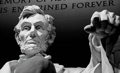 Washington D.c Digital Art - Lincoln Enshrined Forever by Daniel Hagerman