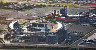 Philadelphia Phillies Stadium Photograph - Lincoln Financial Field And Citizens Bank Park by Bill Cannon