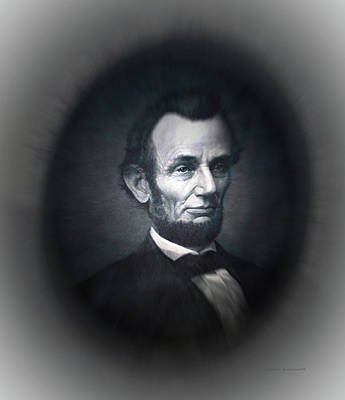 Abe Mixed Media - Lincoln Forever In Our Minds Eye by Thomas Woolworth
