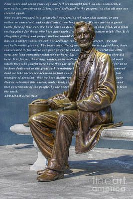 National Cemetery Digital Art - Lincoln Gettysburg Address by Randy Steele