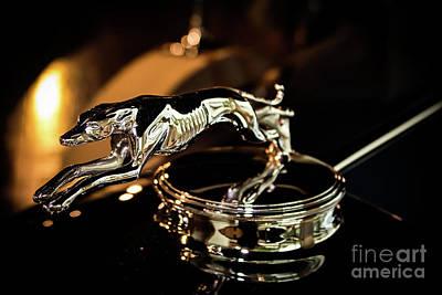 Lincoln Greyhound Hood Ornament Art Print