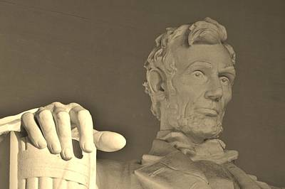 Photograph - Lincoln Head And Hand by Buddy Scott