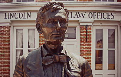 Lincoln Law Art Print by Prairie Pics Photography