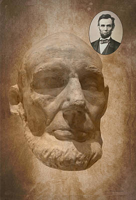 Slavery Art Mixed Media - Lincoln Life Mask by Thomas Woolworth