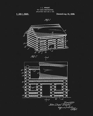 Drawing - Lincoln Logs Patent by Dan Sproul
