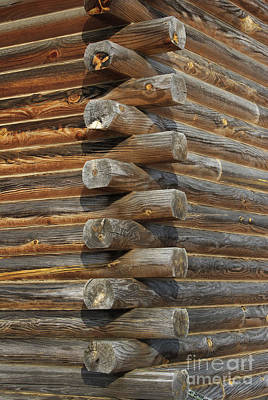 Log Cabins Photograph - Lincoln Logs by Skip Willits