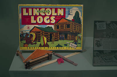 Tom Parker Photograph - Lincoln Logs Toys by Thomas Woolworth