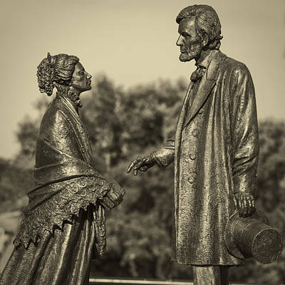Photograph - Lincoln Meets Stowe Sculpture by Phil Cardamone