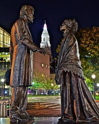 Politicians Royalty-Free and Rights-Managed Images - Lincoln Meets Stowe by Frozen in Time Fine Art Photography