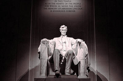 War Monuments And Shrines Photograph - Lincoln Memorial # 3 by Allen Beatty