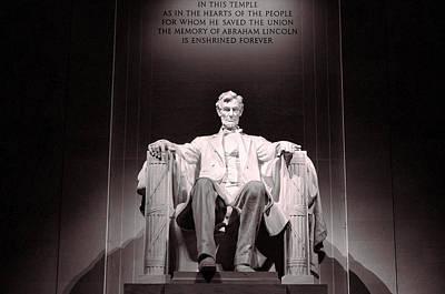 Photograph - Lincoln Memorial # 3 by Allen Beatty