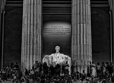 War Monuments And Shrines Photograph - Lincoln Memorial # 4 by Allen Beatty
