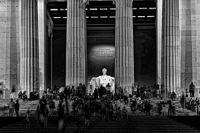 War Monuments And Shrines Photograph - Lincoln Memorial # 5 by Allen Beatty