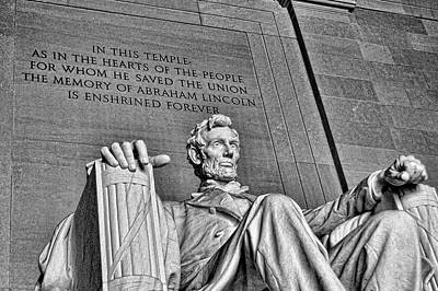 War Monuments And Shrines Photograph - Lincoln Memorial # 6 by Allen Beatty