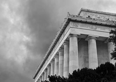 Lincoln Memorial Wall Art - Photograph - Lincoln Memorial - Black And White - Washington Dc by Brendan Reals