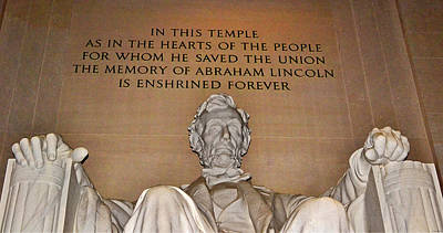 Photograph - Lincoln Memorial 006 by George Bostian