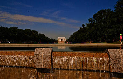 Photograph -  Lincoln Memorial 2. by John Hardingy
