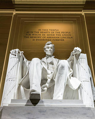 Abraham Lincoln Photograph - Lincoln Memorial 2 by Larry Marshall