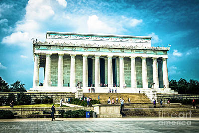 Photograph - Lincoln Memorial #5 by Julian Starks