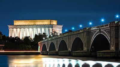 Photograph - Lincoln Memorial And Arlington Bridge by Mihai Andritoiu