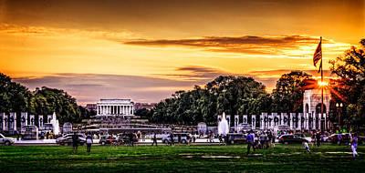 Lincoln Memorial At Sunset  Art Print