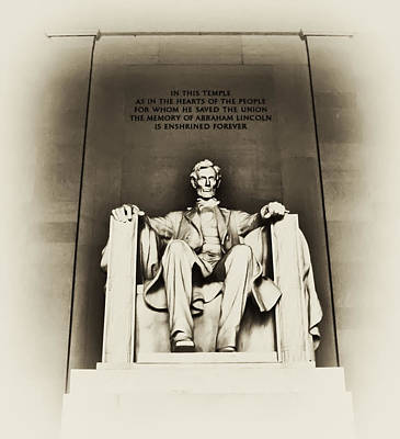 Washington D.c Digital Art - Lincoln Memorial by Bill Cannon