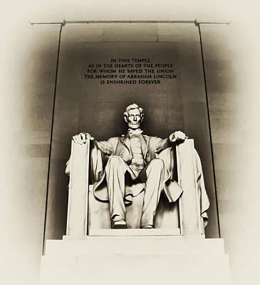 Lincoln Memorial Digital Art - Lincoln Memorial by Bill Cannon