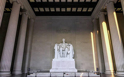 Photograph - Lincoln Memorial by Framing Places