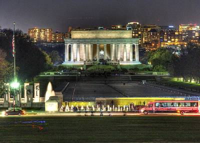 Photograph - Lincoln Memorial From Washington Momument by John King