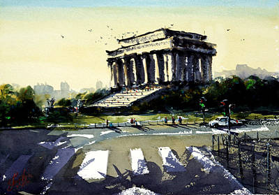 Lincoln Memorial Painting - Lincoln Memorial I by James Nyika
