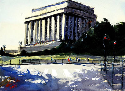 Lincoln Memorial Painting - Lincoln Memorial II by James Nyika