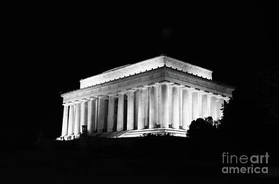 Lincoln Memorial In Black N White Original