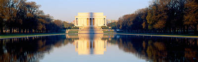 Lincoln Memorial In Shadow Art Print by Panoramic Images