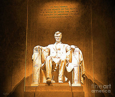 Lincoln Memorial Mixed Media - Lincoln Memorial by KaFra Art