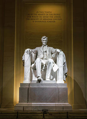 Abraham Lincoln Photograph - Lincoln Memorial by Larry Marshall