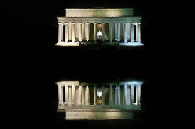 Photograph - Lincoln Memorial by Lorella Schoales