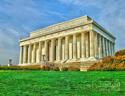 Photograph - Lincoln Memorial by Nick Zelinsky