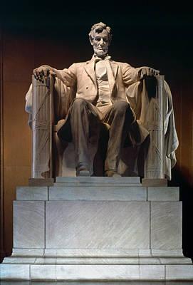 Statue Portrait Photograph - Lincoln Memorial: Statue by Granger