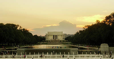 Photograph - Lincoln Memorial Sunset by Greg Mimbs