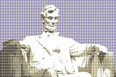 Lincoln Memorial Digital Art - Lincoln Memorial - Violet by Gary Hogben