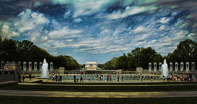 Photograph - Lincoln Memorial With Texture by Judy Vincent