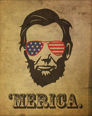 Politicians Mixed Media - Lincoln Merica by Design Turnpike